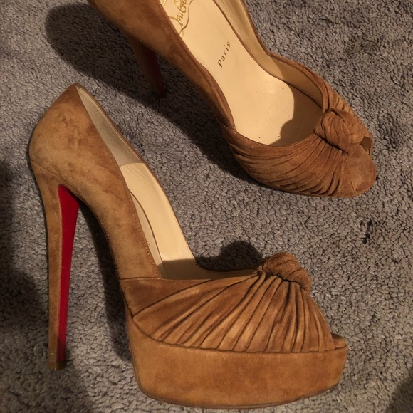 christian louboutin maillot suede mary jane platform pumps